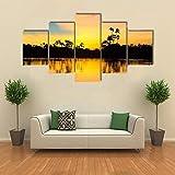 JJJKK Bilder Schlafzimmer - bunter Sonnenuntergang im