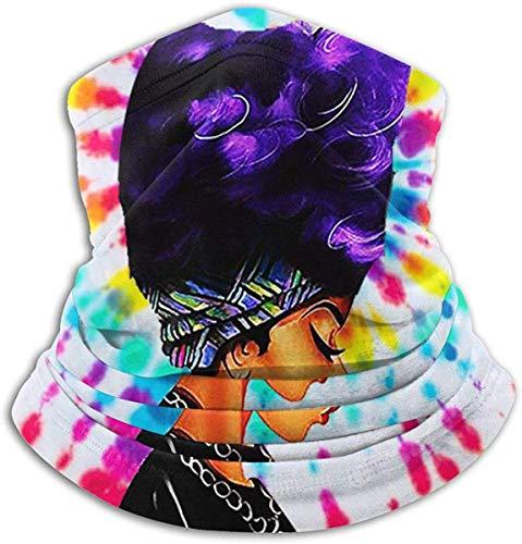 Unisex Black History Month Afro Word Art Cabello natural Fleece de invierno Calentador de cuello Polainas Banda para el cabello Tubo para clima frío Mascarilla Bufanda térmica Cuello exterior Protección UV Cubierta de fiesta