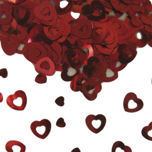 Folat 15g Tischkonfetti Herz Rot Hochzeit