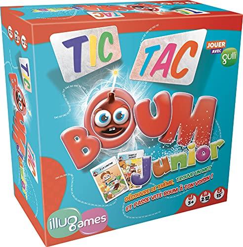 Tic Tac Boum Junior - Illugames - Asmodee - Jeu de société - Jeu Enfant - Jeu de Mots