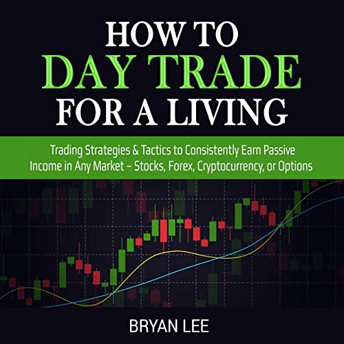 How to Day Trade for a Living: Trading Strategies & Tactics to Consistently Earn Passive Income in Any Market - Stocks, Forex, Cryptocurrency , or Options (How to Trade for Living) audiobook cover art