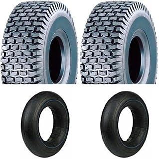 2 Neumáticos con Manguera, 13 x 5.00 – 6 para tráctor Segadora