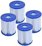 QWEWQE 4 filtros para piscina Bestway tipo I, sustituye a cartuchos de filtro,...