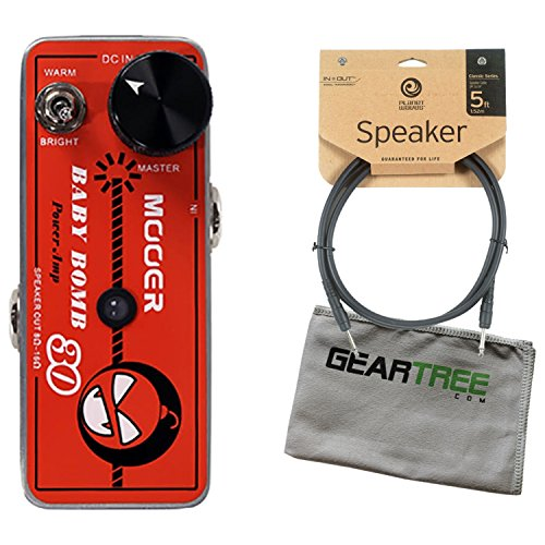 Affordable Mooer Baby Bomb 30 Digital Micro Power AMP w/Speaker Cable and Geartree Cloth