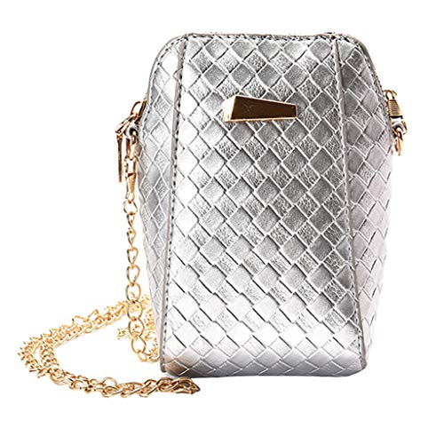 Great Price! Women's Leather Shoulder Bag Polishing Crossbody Quilted Plaid Clutch Purse