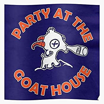 ADRIAFE The Navy BMS Goat Party House at Mountain State Football Blue | Impressive Posters for Room Decoration Printed with The Latest Modern Technology on semi-Glossy Paper Background