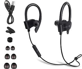 Écouteur Bluetooth, Etmury Sport Oreillette Bluetooth 5.0, Écouteurs Étanche sans Fil, Headphones Earbuds Wireless Stéréo Casque Audio Intra Auriculaires avec Micro pour Course/Gym/Jogging - Noir