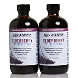Norm's Farms Black Elderberry Wellness Syrup 8 Ounce Bottle, Pack of 2