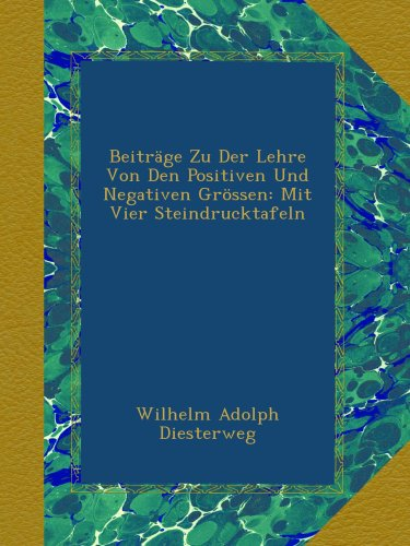 Beiträge Zu Der Lehre Von Den Positiven Und Negativen Grössen: Mit Vier Steindrucktafeln