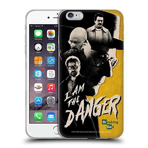 Head Case Designs Licenciado Oficialmente Breaking Bad Heisenberg Yo Soy El Peligro Iconic Carcasa de Gel de Silicona Compatible con Apple iPhone 6 Plus/iPhone 6s Plus