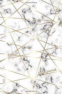 Bullet Journal: Marble + Gold Designer Bullet Journal | Dot Grid Notebook (Marble Journals) (Volume 1)