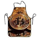Grembiuli da cucina personalizzati Bitcoin Coin Donne / Uomini Bavaglio Attitudine Moda casalinga casalinga Chef professionale Grembiule per barbecue Cucinare Lavorare alla griglia Cottura Giardinaggi