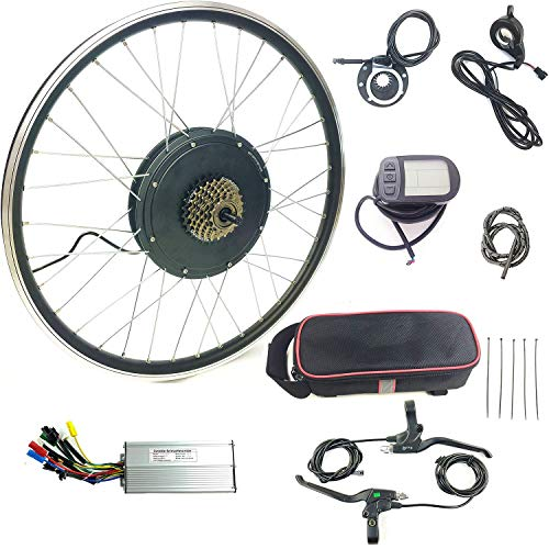Schuck Electric Bicycle conversion kit 700C 48V1000W Rear Wheel Motor E-bike Cycling BLDC Hub motor with LCD5 Display