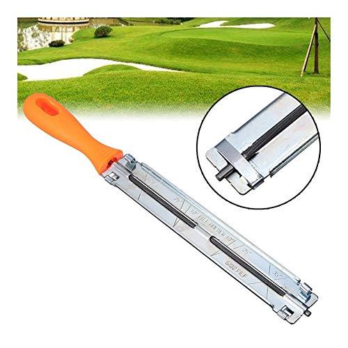 XINGJIJIJIA Affectant 5/32 « » Chain Saw 4 mm Scie à chaîne Fichier Sharpener dépôt Affûtage for Jardin Scie à chaîne Pièces Bois Fichiers qualité (Color : Silver)