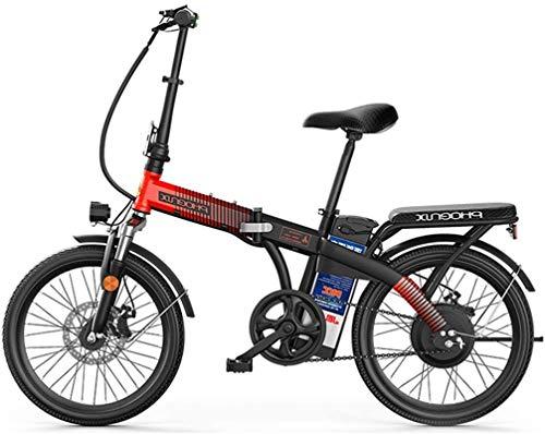 Alta velocidad E-Bici de 20 pulgadas Neumáticos bicicleta plegable eléctrica, 48V 8Ah batería de litio 250W vatios Motor eléctrico de la bici por adultos de la Ciudad de trayecto, freno de disco