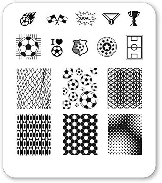 Winstonia Nail Art Stamping Image Plate Summer Sports Fun Games Spirit Manicure Soccer Mania product image
