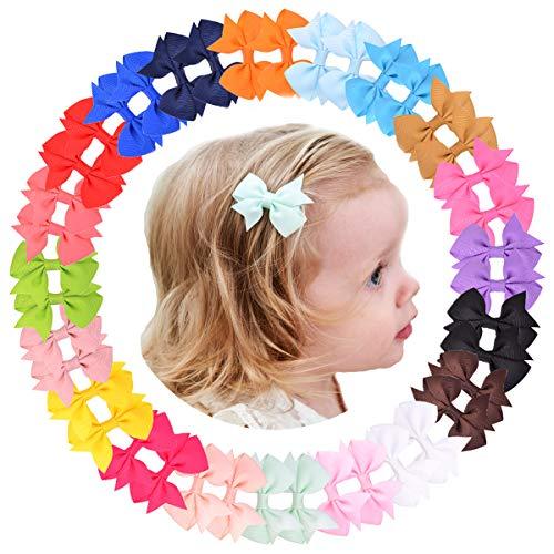 40 lazos para el pelo de grogrén de 2.5 pulgadas para niñas y bebés, accesorios para el cabello para adolescentes, niños, niños pequeños y niñas grandes