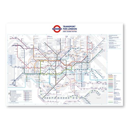 stika.co Poster standard della metropolitana di Londra, formato A2, 594 x 420 mm, 58,4 x 41,9 cm