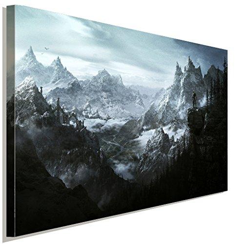 Skyrim Landschaft Leinwandbild LaraArt Studio Wanddeko Wandbild 80 x 60 cm
