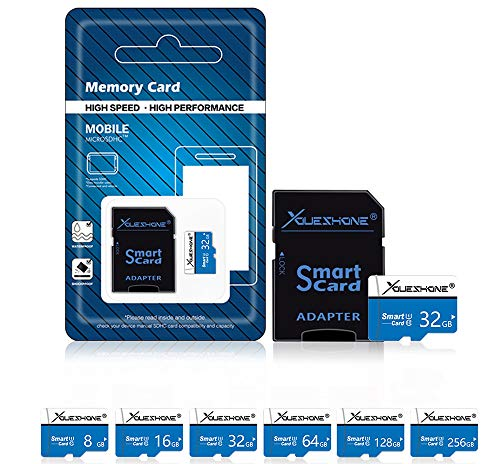 YUHUANG Micro SD-kaart, 8GB 16 GB Mini SD-geheugenkaart Microsd 32 GB 64 GB 128 GB Pendrive Class 10 Mini TF-kaart 32 GB Flash Drive, 256 GB