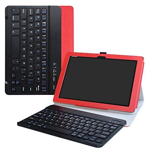LiuShan Asus ZenPad 10 hülle, Abnehmbare Tastatur (QWERTY, englisches Layout) mit Ständer für 10.0