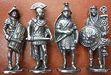 Juego de 4 figuras militares romanas – Gladiador, Pretoriano, Legionario, Letrero – en...