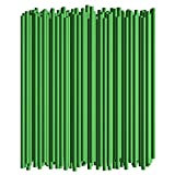 Disposable Drinking Straws - 7 3/4 Inches Long - Standard Size (Green, 250)