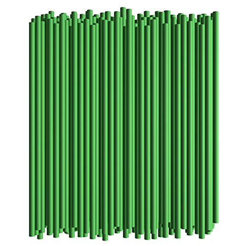 Disposable Drinking Straws - Standard Size (Green, 250)