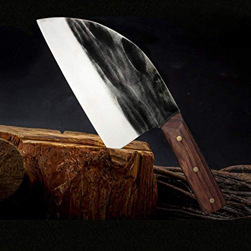 Chinese Chef's Knife and Meat Cleaver Knife,Forged Kitchen Knife Butcher Handmade Forged Stainless Steel Utility Chef Knife with Full-Tang Dalbergia Cochinchinensis Handle for Home, Kitchen & Restaura