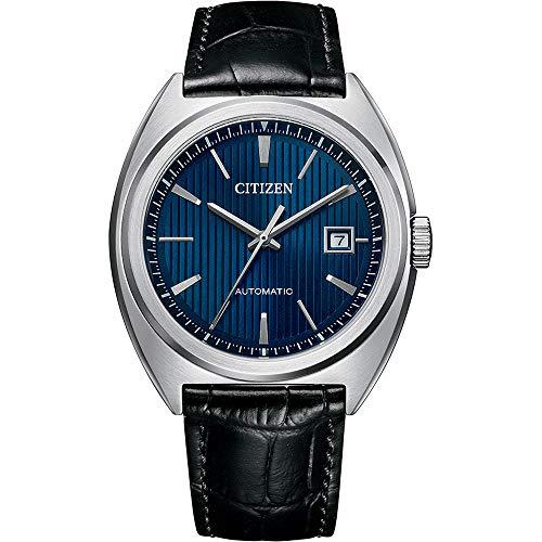 Citizen Reloj automático para hombre, color negro y azul NJ0100-46L