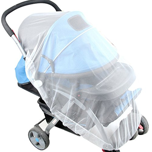 royalr Mosquito Net Stroller Infants Baby Safe Mesh Bug Cover Mosquito Mesh White Bee Insect Bug Cover