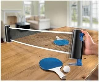 Sharper Image Retractable Table Tennis Set