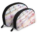 XCNGG Bolsa de almacenamiento colorida grúa colgante Origami portátil viaje maquillaje bolso impermeable organizador de artículos de tocador bolsas de almacenamiento