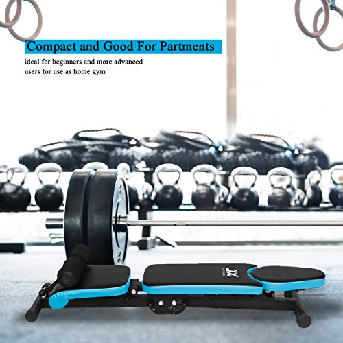 JX-FITNESS-Adjustable-Weight-Bench-Home-Training-Gym-Weight-Lifting-Sit-Up-Ab-Bench-Flat-Incline-Decline-Multiuse-Exercise-Workout-Bench