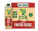 Vivesoy Frutos Secos sin Azúcar Pack, 6 x 1L