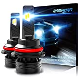 RAMHORN 9007 LED Headlight Bulbs,360 Degree Adjustable Beam 10000Lm 6500K Cool White CREE Chips HB5 Conversion Kit of 2