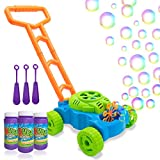 Lydaz Bubble Mower for Toddlers, Kids Bubble Blower Machine Lawn Games, Outdoor Push Toys Gifts for...