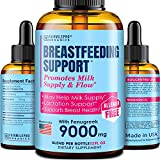 Lactation Supplement Breastfeeding Support Liquid - Breast Milk Supply Increase for Mothers, Organic...