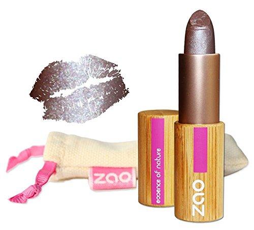 ZAO Pearly Lipstick 406 burgunderrot dunkelrot schimmernder Lippenstift mit Perlglanz, in...