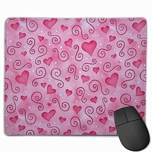 Niedliches Gaming-Mauspad, Schreibtisch-Mauspad, kleines Mauspad für Laptop-Computer, Mausmatte Rosa Herzen Valentinstag-themenorientierter Hintergrundbild