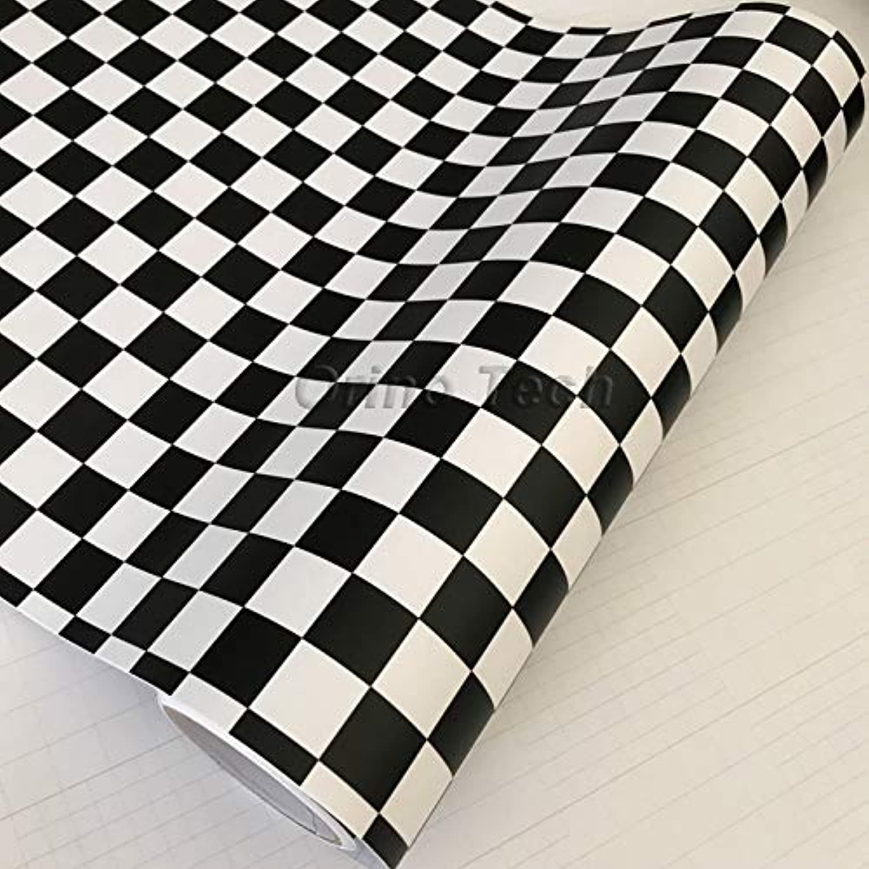 100 200 300 500CMX50CM Checkered Flag Racing Vinyl Car Styling Motorbike Scooter Decal Film Black & White Sticker Wrap  (Size  50CMX200CM)
