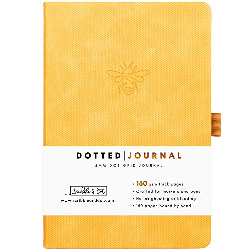 Bullet Planner/Dotted Journal - Honey Bee - A5 Ultra Thick 160gsm Paper -...