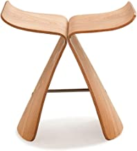 zsfbdgfmdf Curved Wood Chair New Creative Butterfly Chair Simple Solid Wood Curved Plate Stool