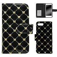 WHITENUTS iPhone7 iPhoneSE(第2世代) iPhone8 ケース 手帳型 チェーン ハート キルト ブラック TC-D0421535/ML