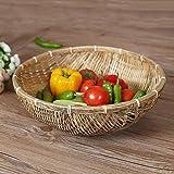 Cestino antipolvere Cestino da picnic con vassoi di bamb/ù cestino da picnic realizzato a mano con garza con copertura in garza di rete per pane di frutta vegetale
