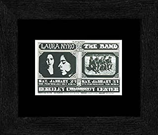 Stick It On Your Wall Laura Nyro The Band - Berkeley Community Theater 24th & 31th January 70 Framed Mini Poster - 20x18cm