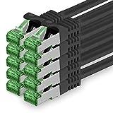 Cat7 Cable de Red Ethernet LAN 3m - Negro - 10 Piezas - Sftp Pimf Lszh...