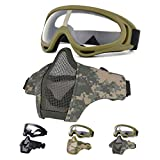 Best Airsoft Goggles - Fansport Airsoft Mask Tactical Goggles Set, Lower Half Review