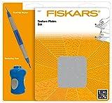 Fiskars Placas de texturas, Set de inicio, con 6 Placas a doble cara y Estilete, 1003731...