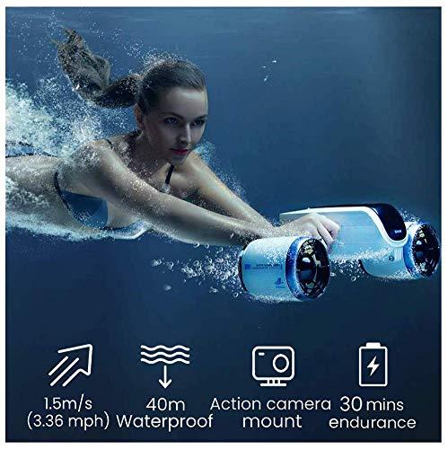 SANON Patinete subacuático (blanco ártico), hélice sumergible, refuerzo subacuático, profundidad extrema 131FT, cámara de flotabilidad con bolsa de almacenamiento. WTZ012 (color : C)